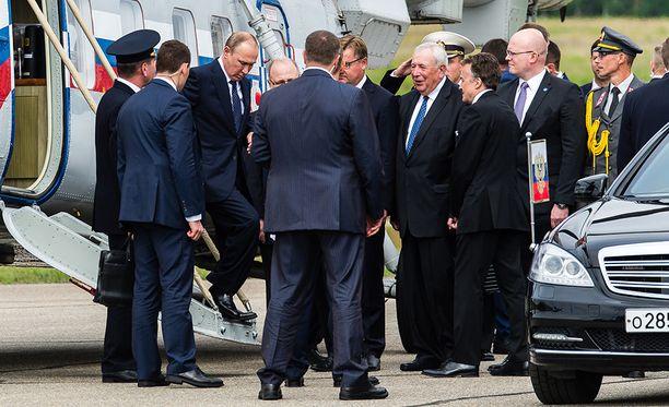 Vladimir Putin vieraili Savonlinnassa heinäkuun lopulla.