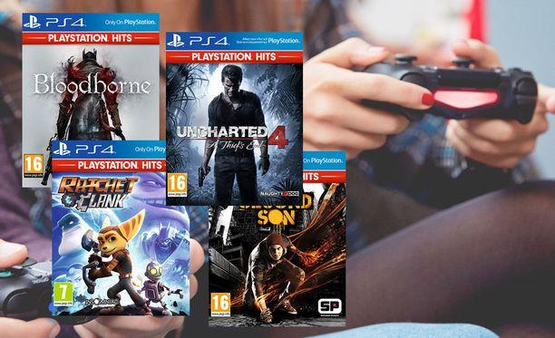 Edulliset hittipelit ovat ladattavissa Playstation Storesta.