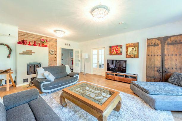 291-neliöisessä kodissa mahtuu asumaan isompikin perhe.