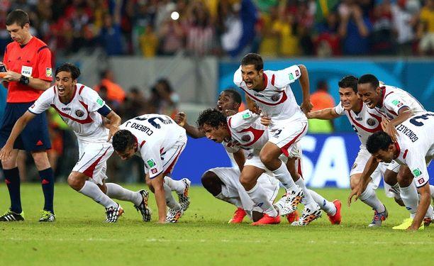 Costa Rica voitti neljännesvälierässä Kreikan rangaistuspotkuilla.