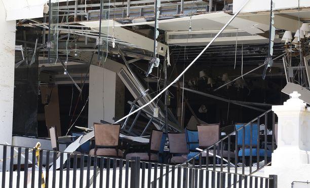 Kingsbury-hotelli koki räjähdyksessä tuntuvat vauriot.