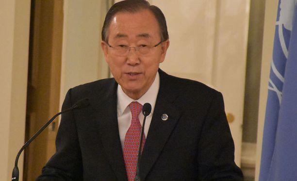 Ban Ki-moon tapasi tänään presidentti Sauli Niinistön.