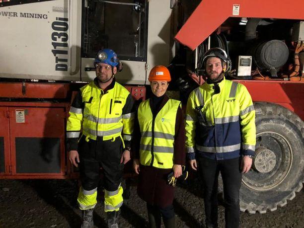 Kuvassa Toni Tikkanen Power Mining, Victoria ja Max Åklundh YIT.