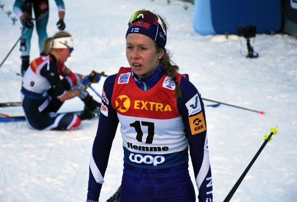 Laura Mononen oli yhdestoista Tour de Skin lopputuloksissa. Maaliin hiihti 28 naista.