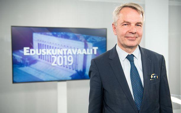 Vihreiden puheenjohtaja Pekka Haavisto.