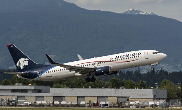 Kuvituskuva, Aeromexicon lentokone.