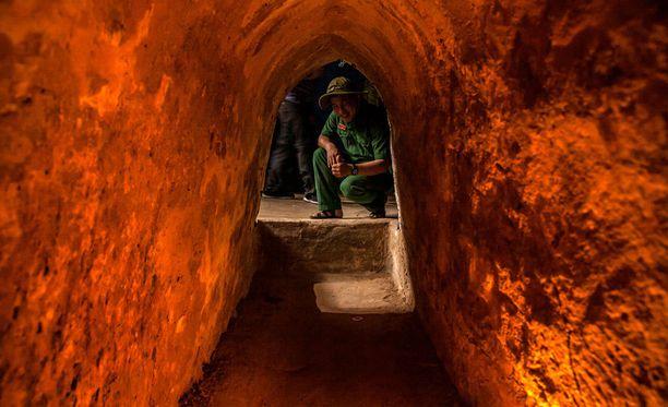Tunneliverkosto oli kovassa käytössä Vietnamin sodan aikaan.