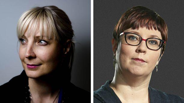 Perussuomalaisten kansanedustaja Laura Huhtasaari ja vasemmistoliiton kansanedustaja Merja Kyllönen ovat molemmat ehdolla eurovaaleissa.