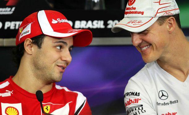 Felipe Massan jatkaessa ensi kausi oli 42:s, kun formuloissa ajaa Michael Schumacherin tallikaveri.