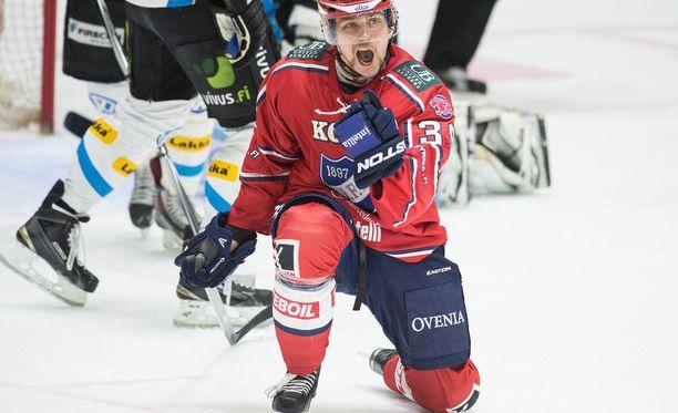 Arttu Luttinen oli runkosarjassa HIFK:n paras maalintekijä.