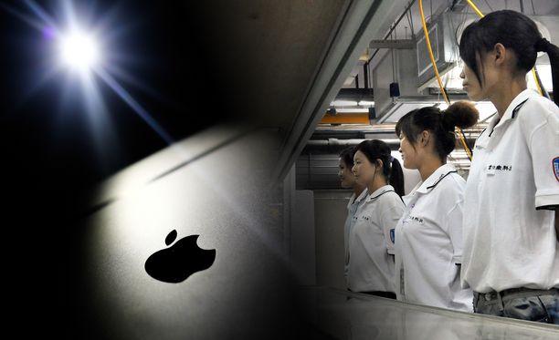 Applen Iphone-puhelimia kasataan Kiinassa.