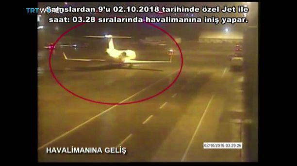 Yksityiskone, jonka kyydissä väitetty tapporyhmä tuli, laskeutui Istanbuliin varhain aamuyöstä katoamispäivänä.