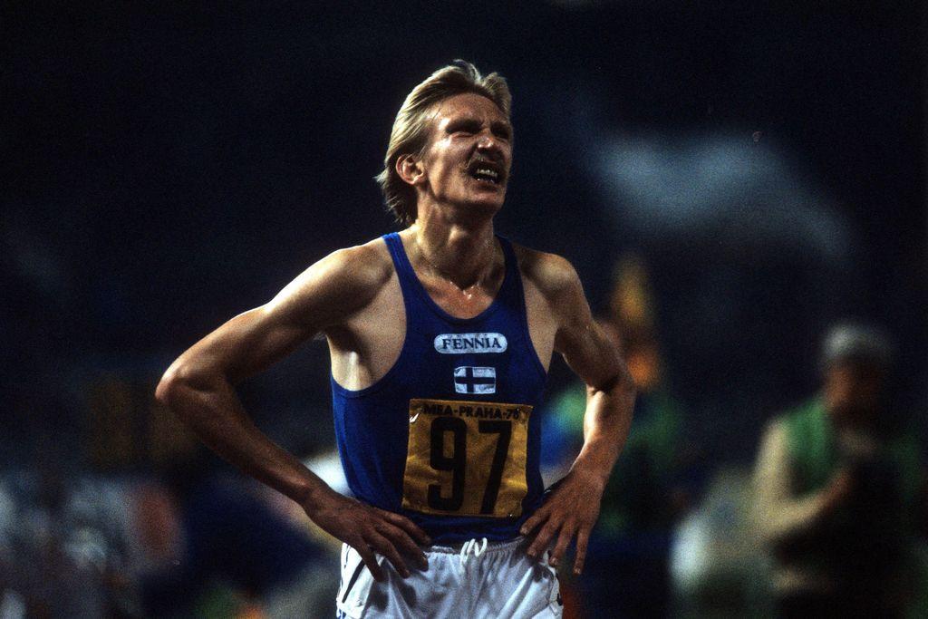 Martti Vainiosta tuli arvokisavoittaja 29. elokuuta 1978 Strahovin stadionilla Prahassa.