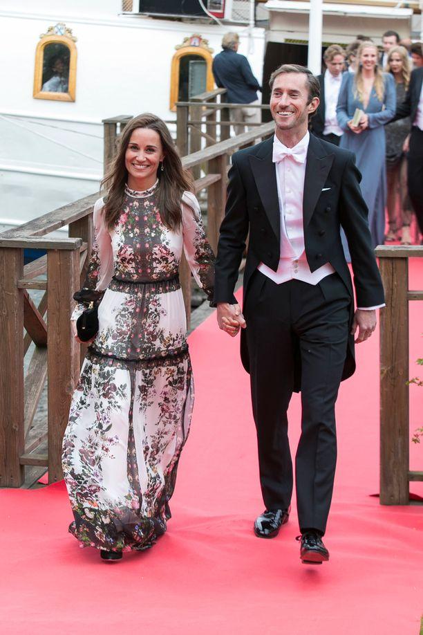 Pippa ja James säteilivät yhdessä.