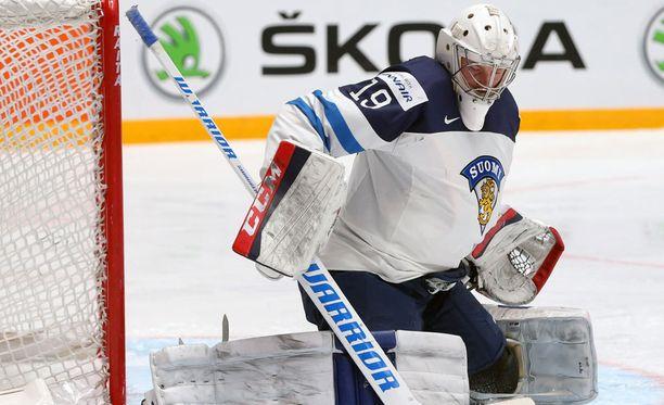 Mikko Koskinen on kantanut Venäjän MM-kisoissa päävastuun Leijonien maalivahdeista.