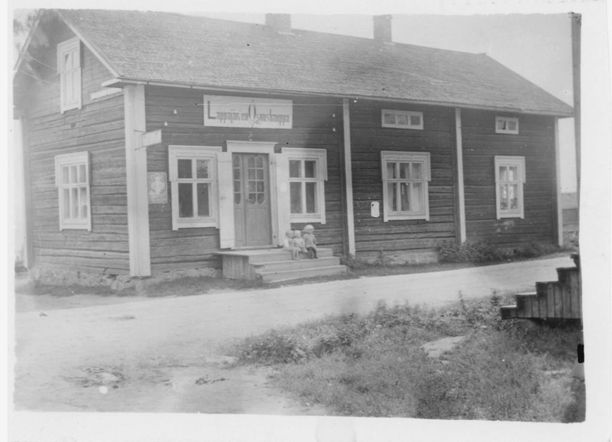 Lappajärven Osuuskaupan toimitila vuosina 1918-1936.