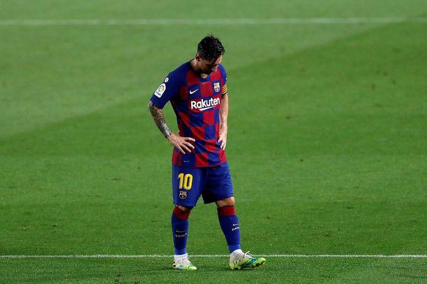 Lionel Messin pää oli painuksissa Camp Noun nurmella torstai-iltana.