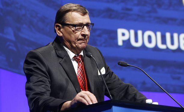 Raimo Vistbacka perussuomalaisten puoluekokouksessa kesällä 2015.