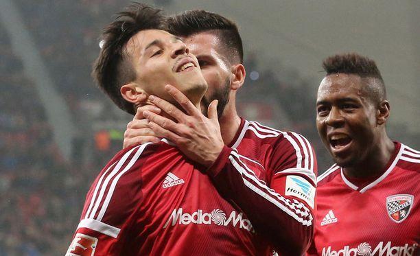 Alfredo Morales aloitti Ingolstadtin juhlat Leverkusenissa.