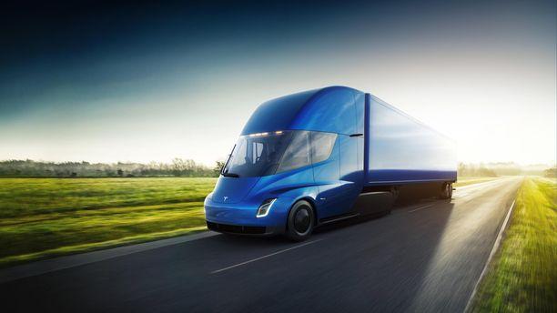 Tesla Semi. Toimintamatka 800 kilometriä täydessä lastissa moottoritiellä, lupaa Elon Musk.