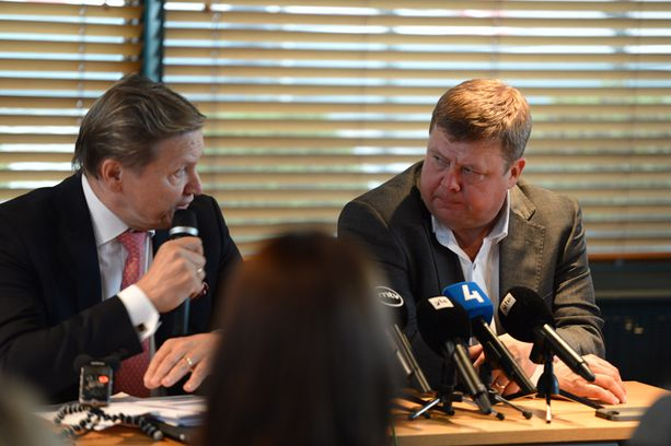 Talvivaaran hallituksen puheenjohtaja Tapani Järvinen ja yhtiön toimitusjohtaja Pekka Perä kertasivat yhtiön tilannetta.
