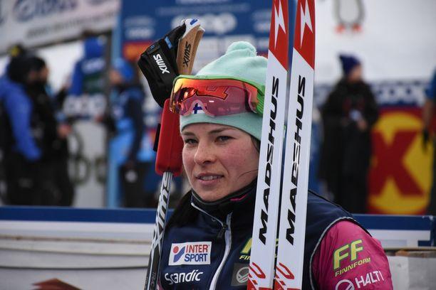 Krista Pärmäkoski jäi neljänneksi sunnuntaina Tour de Skin toisella etapilla Toblachissa.