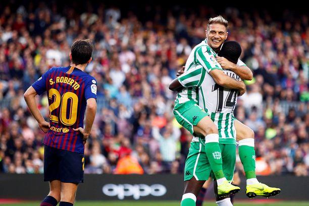 Joaquin ja Real Betis kurittivat Barcelonaa.