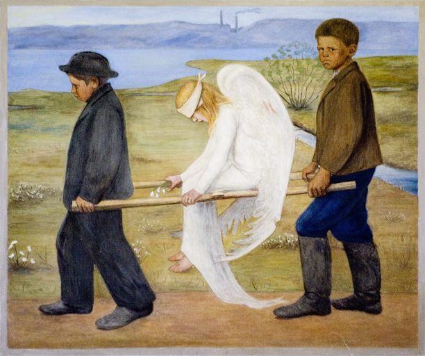 Haavoittunut enkeli lienee taidemaalari Hugo Simbergin kuuluisin teos. Maalauksen isompi versio ja muut Tampereen tuomiokirkon freskot herättivät aikoinaan sen verran närää, että seurakuntaneuvosto äänesti niiden puolesta vain yhden äänen enemmistöllä.