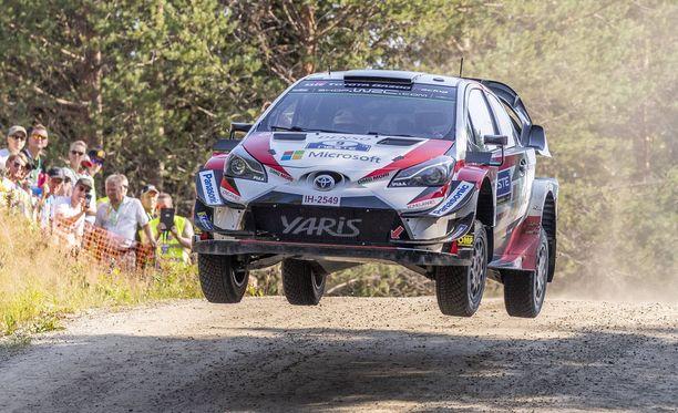 Toyotan Esapekka Lappi nousi viidenneksi Suomen MM-rallissa.