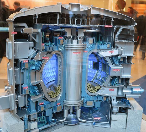 Plasma pidetään kurissa ja erossa reaktorin seinistä voimakkailla magneeteilla.