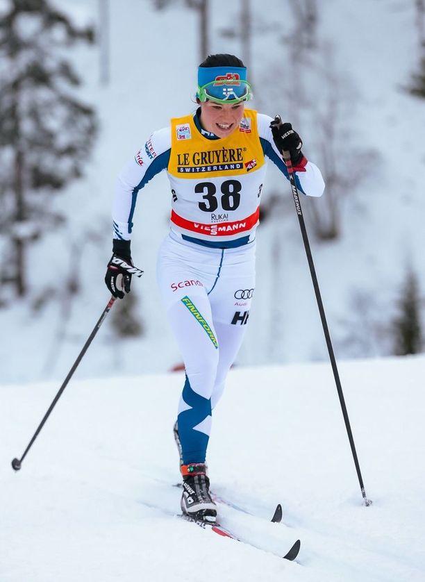 Krista Pärmäkoski on parhaimmillaan perinteisen hiihtotavan väliaikalähtökilpailuissa.