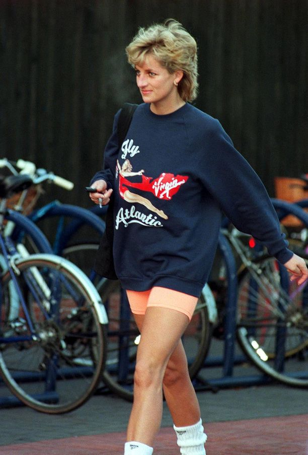 Collegepaita oli tuttu näky prinsessa Dianan päällä.