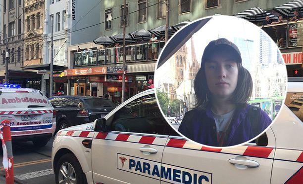 14-vuotias Vincent Meyrick joutui todistamaan Melbournen yliajon aiheuttamaa kaaosta.