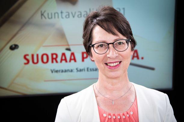 KD:n puheenjohtaja Sari Essayah osallistui Iltalehden Suoraa Puhetta -kuntavaalitenttiin perjantaina 4. kesäkuuta.