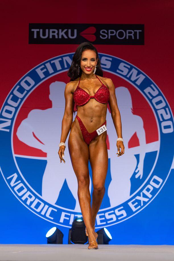 Victoria Kebede voitti Nordic Fitness Expossa kaksi Suomen mestaruutta.