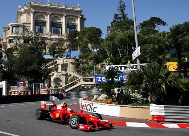 Kimi Räikkönen oli kahdeksas Monacon GP:n harjoituksissa.