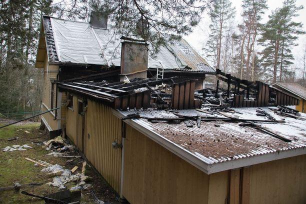 Palo sattui Urjalassa huhtikuussa 2020.