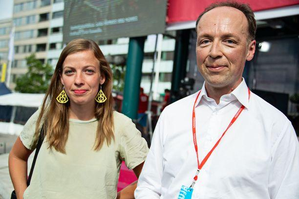 Li Anderssonin ja Jussi Halla-ahon näkemykset ovat usein vastakkaisia, niin myös syntyvyyskysymyksessä.