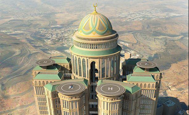 Hotellia rakennetaan parhaillaan muutaman kilometrin päähän Mekan keskustasta ja pyhästä Kaaban kivestä.