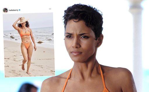 Muistatko Halle Berryn ikoniset Bond-bikinit? Tältä kohun keskelle joutunut Berry näyttää oransseissa bikineissä nyt