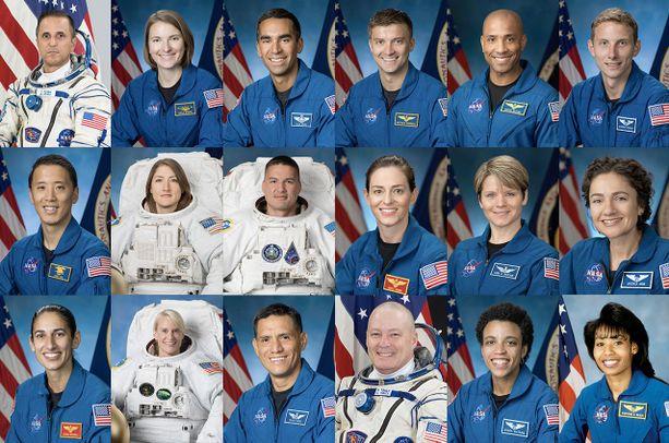 Artemis-projektiin nimettiin yhteensä 18 astronauttia.