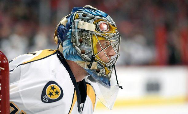 Pekka Rinne piti nolla Chicagoa vastaan.