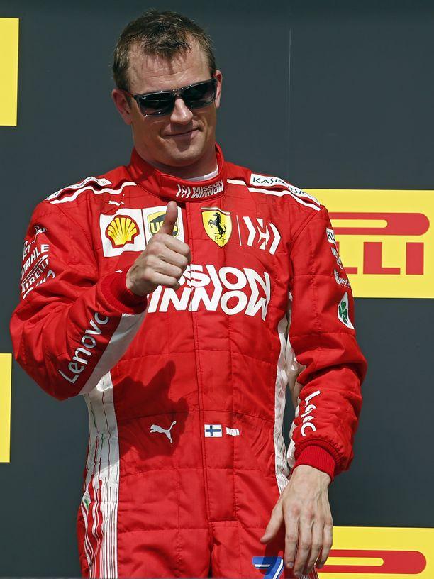 Kimi Räikkönen palasi lokakuussa voittokantaan F1:ssä yli viiden ja puolen vuoden tauon jälkeen.