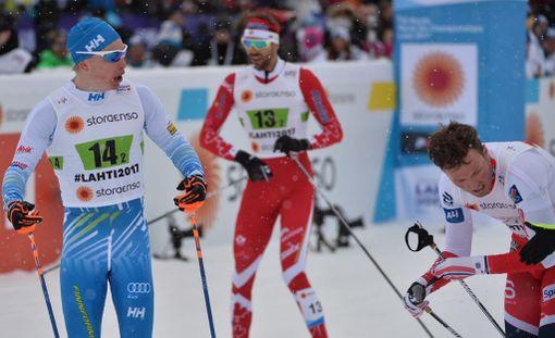 Iivo Niskasen katse Emil Iverseniin oli tuima Lahden MM-kisoissa viime kaudella.