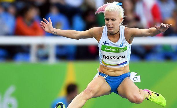 Sandra Erikssonia ei nähdä 300 metrin estefinaalissa.