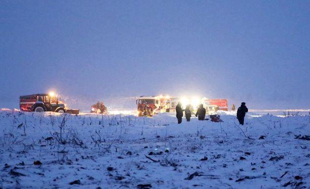 Saratov Airlines -yhtiön kone syöksyi maahan vain muutama minuutti Moskovasta nousun jälkeen.