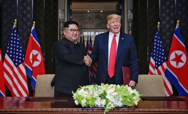 Trumpin mukaan hänen ja Pohjois-Korean Kimin välillä on hyvä kemia.
