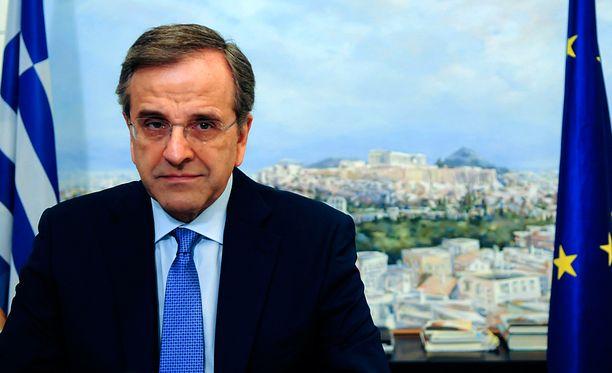 Kreikan entinen pääministeri Antonis Samaras johtaa Uusi demokratia -puoluetta.
