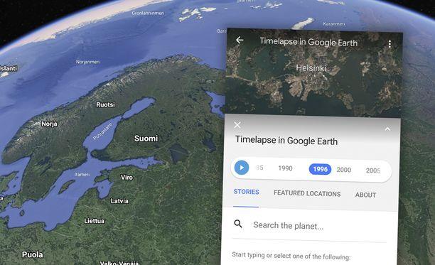 Google Earth näyttää nyt, miten maapallo on muuttunut vuosien saatossa.