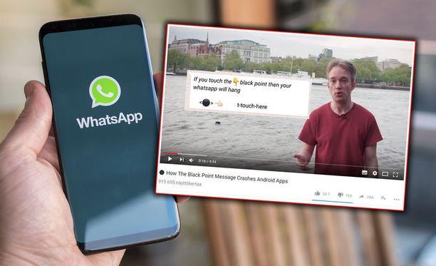 Web-kehittäjä Tom Scott kertoo Youtube-videollaan Whatsappin kaatavasta viestistä.